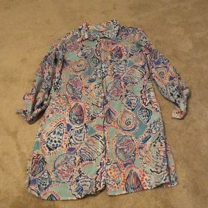 Lilly Pulitzer button up tunic